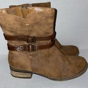 GH Bass Co Womens Faux Leather Brown Boots 9.5
